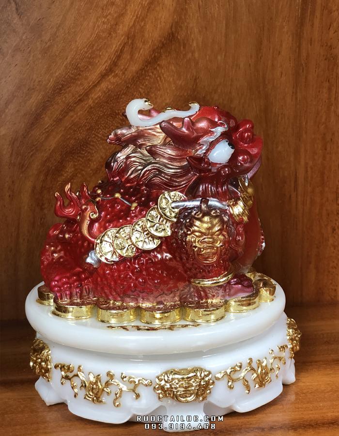 cóc ngậm tiền bằng đá đỏ màu khoáng đẹp nhất hcm