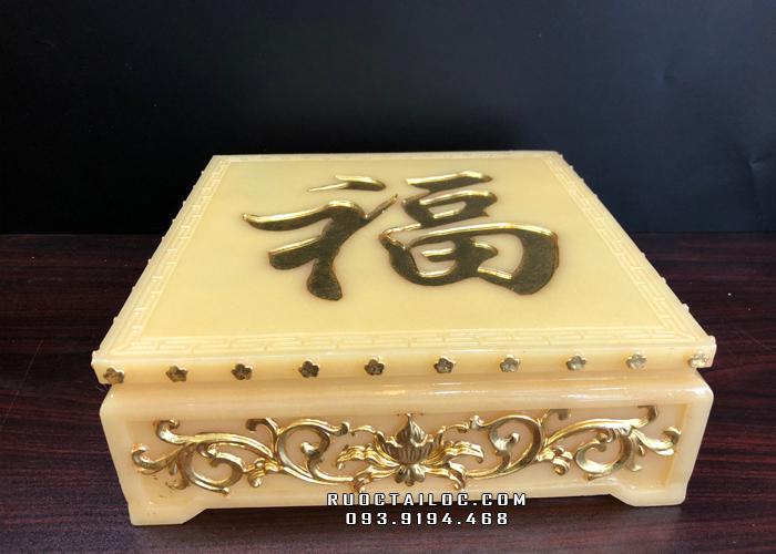 đôn kê tượng bằng bột đá thạch anh màu vàng ngọc đẹp