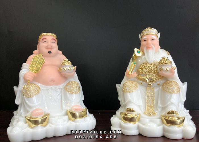 tượng ông địa thần tài trắng cao 25cm giá rẻ nhất