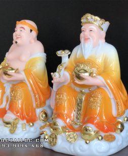 tượng ông địa thần tài bằng đá cẩm thạch vàng ngọc