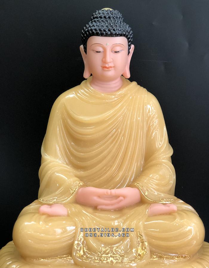 Tượng Phật Thích Ca Đế 8 Cạnh Thạch Anh ngồi đẹp nhất