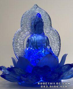tượng quan âm xanh hoa sen để xe ô tô đẹp nhất