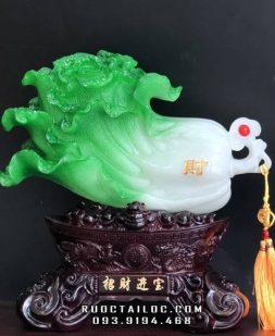 """Bắp cải trong tiếng Hán đọc là """"bạch thái"""" gần âm với bách tài, tức là muôn vàn tài lộc, của cải dư dả, sức khoẻ dồi dào"""