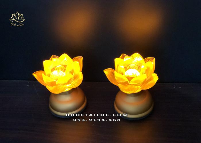 Đèn hoa sen nở pin DTP-016