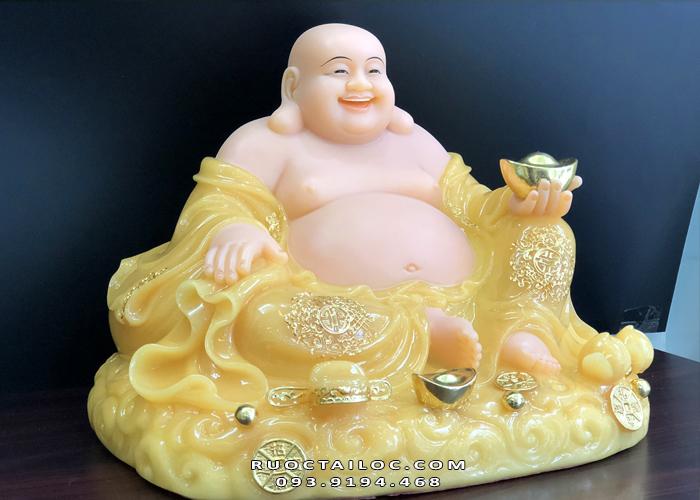 Tượng Phật Di Lặc thạch anh ngồi nằm DLBT - 013