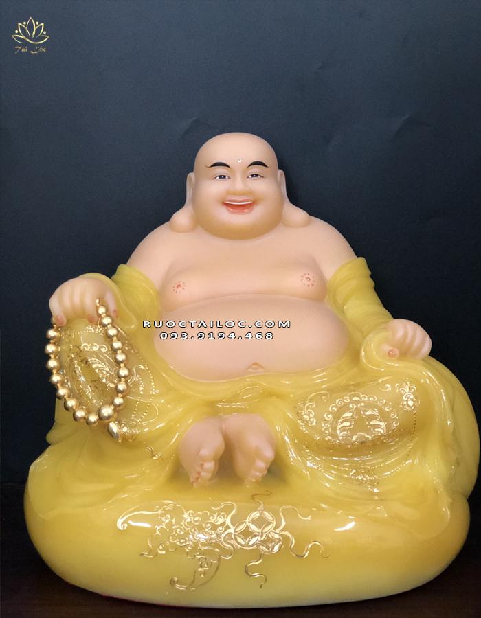 Tượng Phật Di Lặc túi tiền thạch anh DLBT - 012