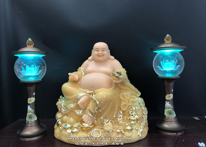 Tượng Phật Di Lặc thạch anh ngồi đứng DLBT - 015